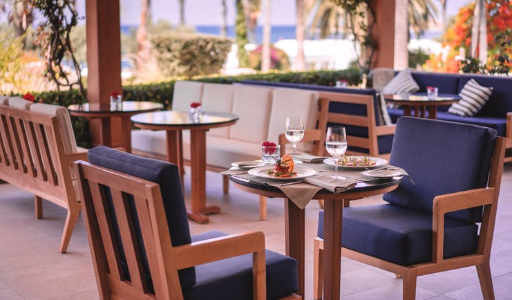 Annabelle Hotel Cyprus restaurant Amorosa dining room with sea view