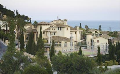 Columbia Beach Resort Cyprus exterior panoramic view of white building near the sea