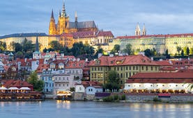 Prague castle on hill