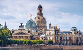 Domes and roofs of Dresden city centre