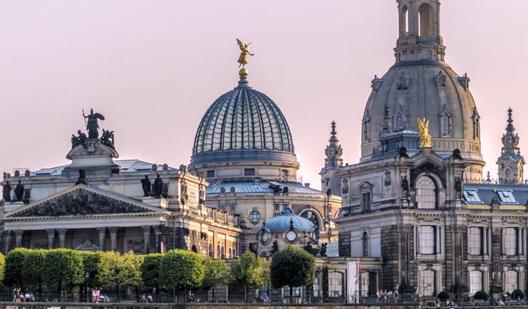 Domes and roofs of historic Dresden