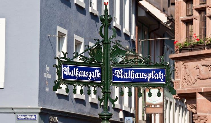 Street sign in Freiburg