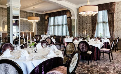 Bovey Castle Devon dining with brown chairs