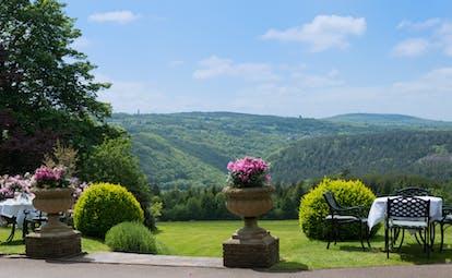 Horn of Plenty Devon garden view