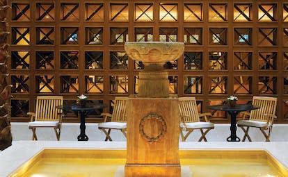 Hotel Grande Bretagne Greece lobby fountain seating area