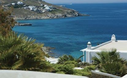 Mykonos Grand Hotel Greece exterior view of island coast