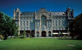 Four Seasons Gresham Palace Hungary exterior shot large grand building lawn area