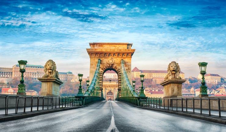 Hungary Budapest Chain Bridge