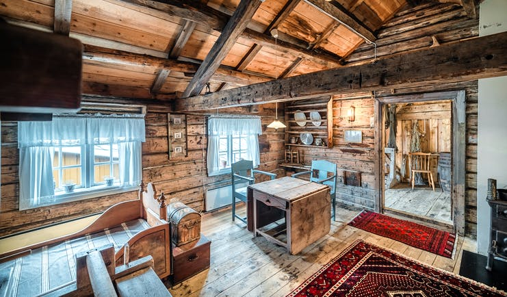 Wooden historic building like a cabin