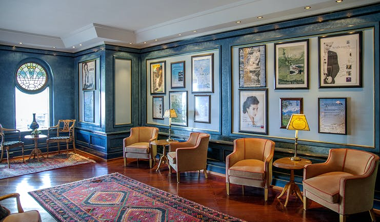 Hotel Ullensvang Norway salon with chairs and paintings