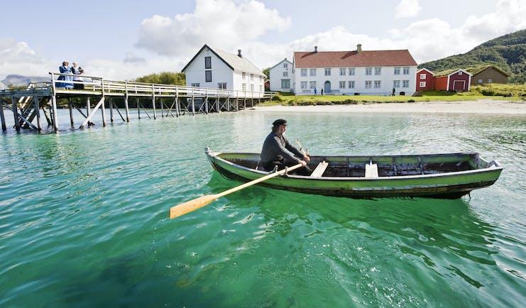 Rowing boat near jetty Bodo