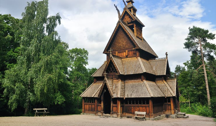 Gol stave wooden church in Oslo museum