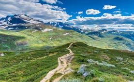Jotunheim walking path through hills