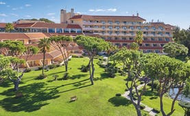 Quinta do Lago Portugal main exterior large hotel building with lawns and trees