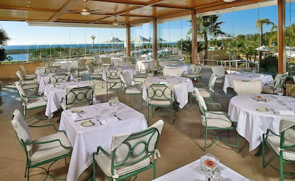 Quinta do Lago Portugal terrace dining covered outdoor dining area