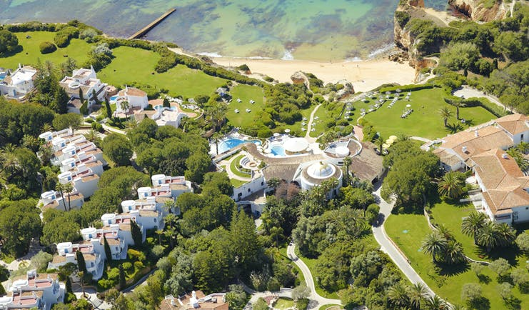 Vila Vita Parc Portugal aerial view of complex of building and sea view