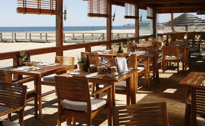 Vila Vita Parc Portugal Nautica restaurant covered outdoor dining area next to the beach