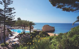View overlooking the pool and sea