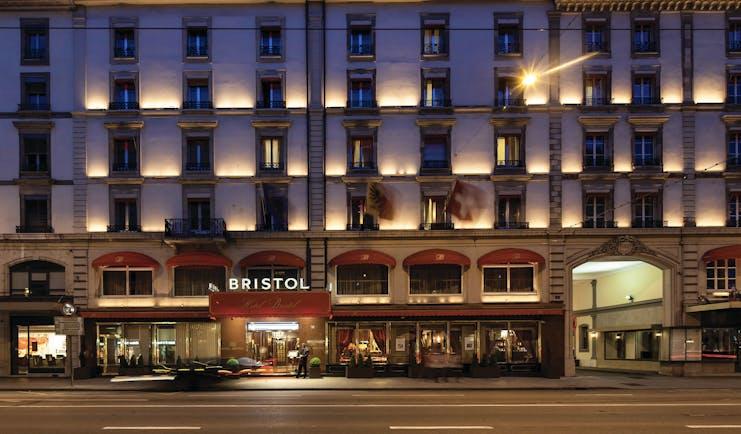 Hotel Bristol facade exterior, hotel building, grand architecture street