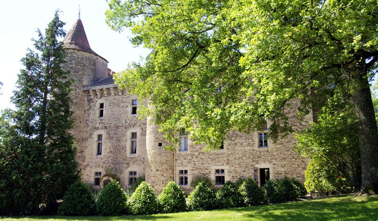 Chateau de Codignat Alps exterior building surrounded by woods