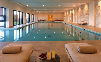 Indoor swimming pool at Chais Monnet Cognac