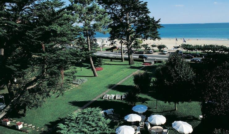 Castel Marie Louise Brittany gardens beach aerial view
