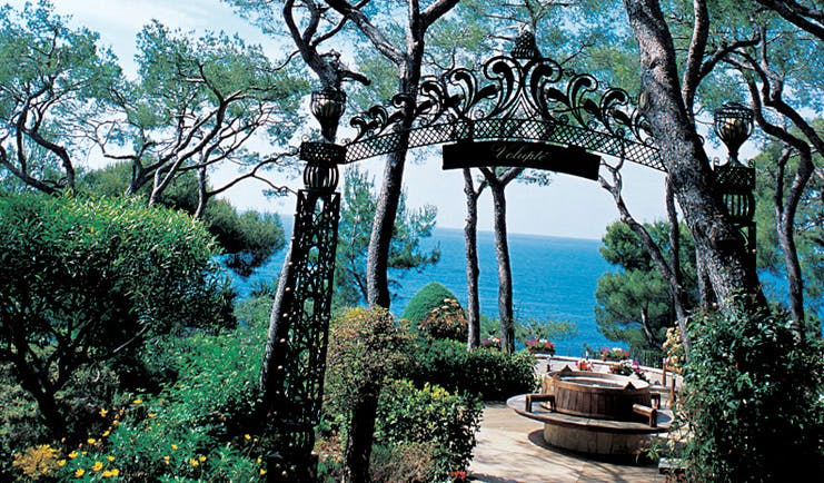 Grand Hotel du Cap Ferrat Cote d'Azur gardens trees sea view