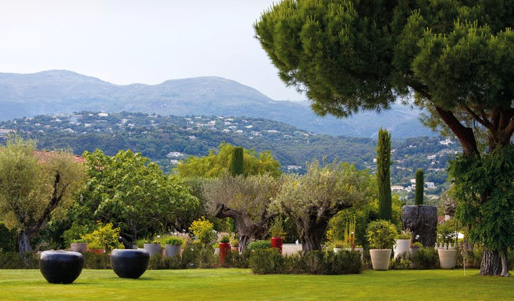 Le Mas de Pierre Cote d'Azur outdoor countryside lawned area with topiary trees