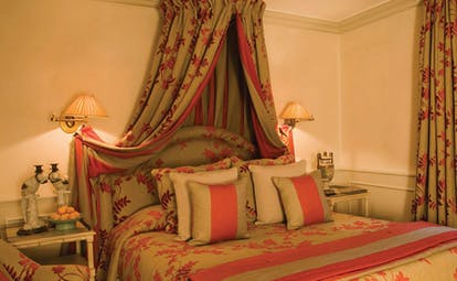 Le Saint Paul Cote d'Azur bedroom with matching curtains and drapes
