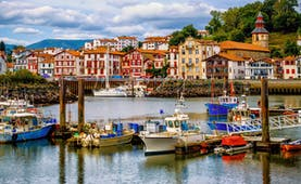 Fishing boats in the harbour at St Jean de Luz
