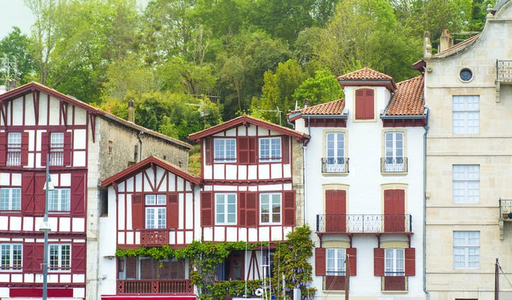 red timbered Basque-houses in St Jean de Luz