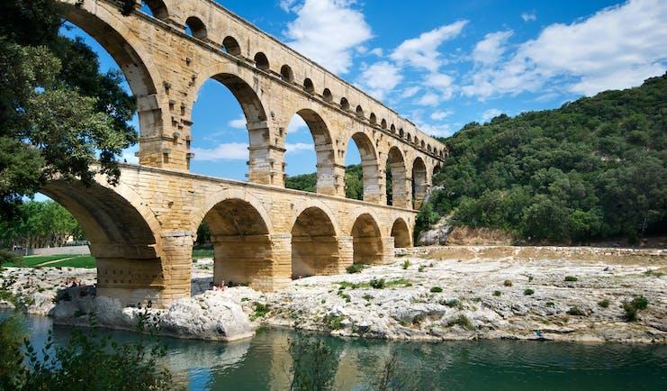 The Roman aqueduct Pont du Gard