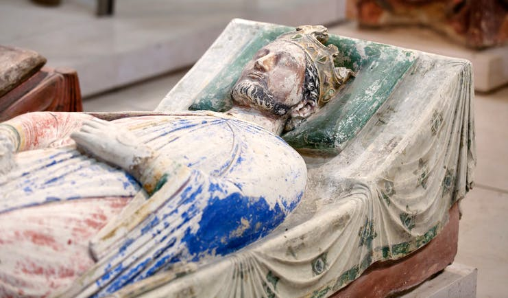 Effigy of Richard the Lionheart in Fontevraud Abbey in Loire Valley