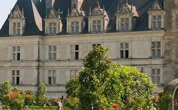 Renaissance chateau Chenonceau with gardens
