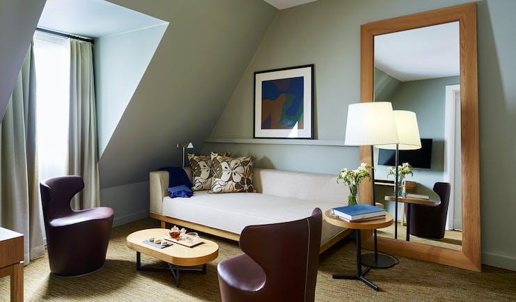 Hotel Bel Ami Paris living room of a suite