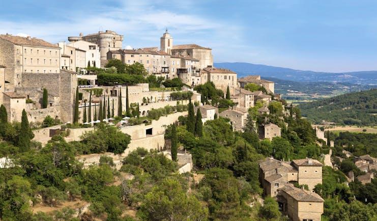 La Bastide de Gordes Provence village exterior aerial view