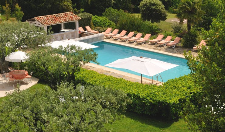 Bastide du Calalou Provence outdoor pool with loungers