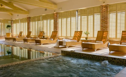 Chateau de Valmer indoor pool and sunbeds