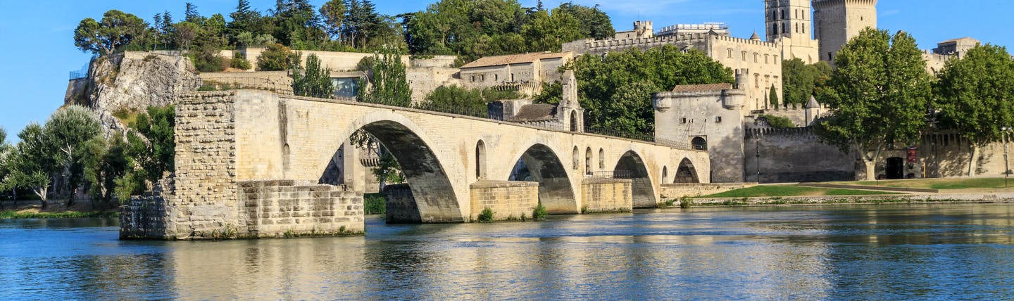 Avignon bridge of Saint Benezet in Provence