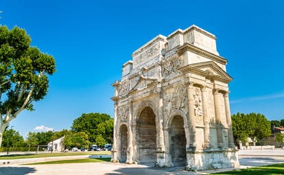 Roman triumphal arch in UNESCO site of Orange