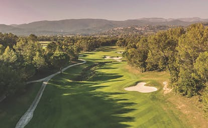 Terre Blanche Hotel and Spa Provence golf course with sand traps