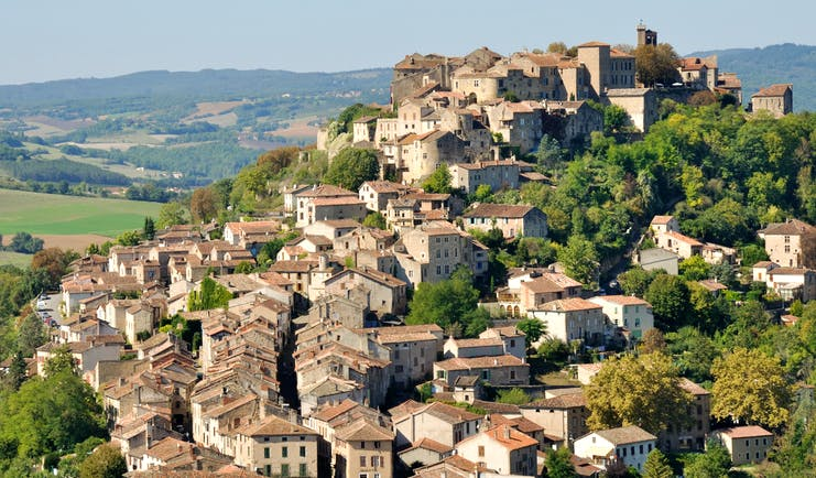 Hill village of Cordes sur Ciel in the Tarn region