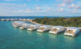 Amilla Fushi lagoon houses exterior, overwater accommodation