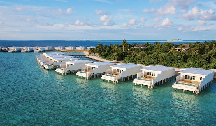 Amilla Fushi lagoon houses exterior, overwater accommodation
