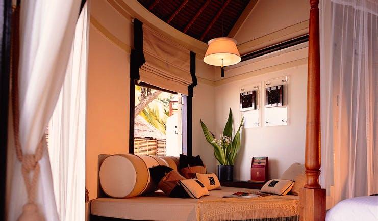 Banyan Tree Maldives beach front villa daybed modern décor