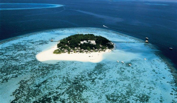 Banyan Tree Maldives island aerial shot