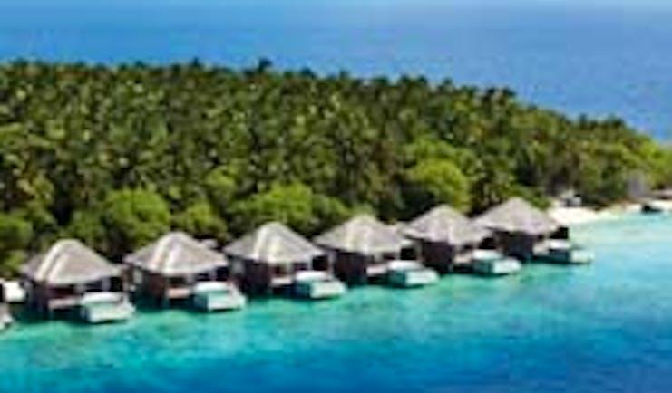 Dusit Thani Maldives lagoon villas exteriors pools sea and island