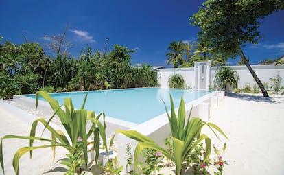 Finolhu beach pool villa, private pool