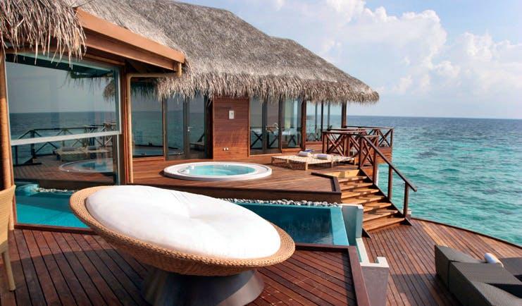 Huvafen Fushi Maldives ocean pavilion terrace sea views