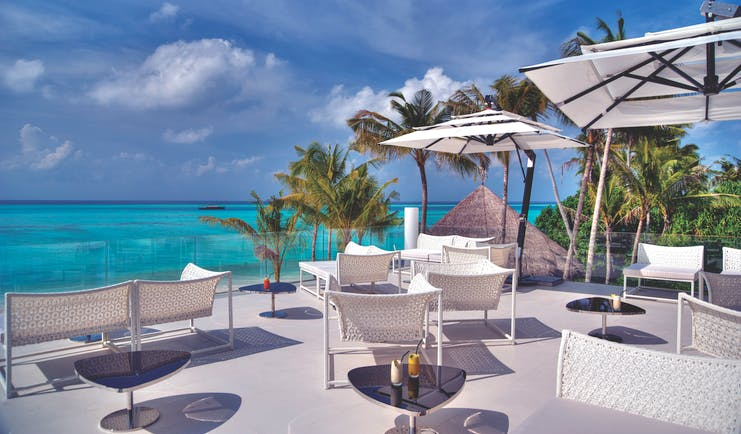 Niyama Maldives farenheit deck outdoor dining area overlooking ocean